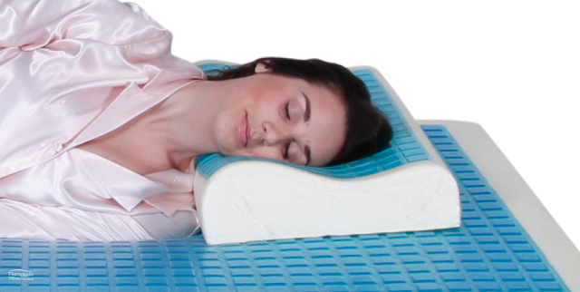 MemoGel Contour Pillow - Cooling Gel Memory Foam Pillow